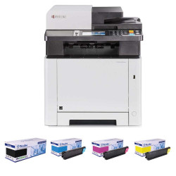 Kyocera ECOSYS M5521cdn A4 Colour Multifunction Laser Printer + Compatible CMYK Toner Bundle