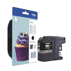 Brother LC-123BK Black Ink Cartridge (600 pages*) LC123BK