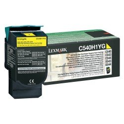 Lexmark C540H1YG High Yield Yellow Return Program Toner Cartridge (2,000 pages*) 0C540H1YG