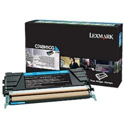 Lexmark C748H1CG High Yield Cyan Return Program Toner Cartridge (10,000 pages*)