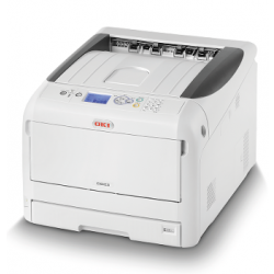 Oki C823dn A3 Colour LED Printer left view