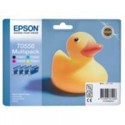 Epson T0556 CMYK Ink Value Pack (8ml each) C13T05564010