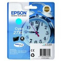 Epson C13T27124010 27XL Cyan Ink Cartridge (1,100 Pages*)