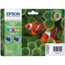 Epson C13T02740310 T027 Colour Ink Cartridge Twin Pack (2x 46ml)