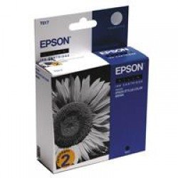 Epson C13T01740210 T017 Black Ink Cartridge TwinPack (30ml)