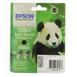 Epson T0501 Black Ink Cartridge Twin Pack (2x 15ml) C13T05014210