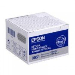 Epson C13S050651 High Yield Black Return Program Toner Cartridge (2,200 pages*)
