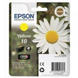 Epson 18 Standard Yield Yellow Ink Cartridge (3.3ml) C13T18044010