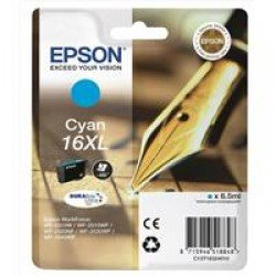 Epson C13T16324010 16XL Cyan Ink Cartridge (6.5ml)