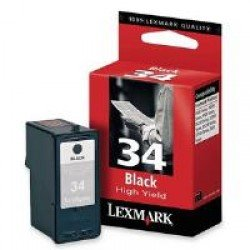 Lexmark 18C0034E #34 High Yield Black Print Cartridge 018C0034E