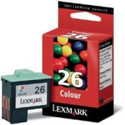 Lexmark 010N0026E #26 High Yield Colour CMY Ink Cartridge (275 pages*) 10N0026E