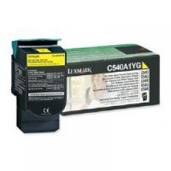 Lexmark C540A1YG Yellow Return Program Toner Cartridge (1,000 pages*) 0C540A1YG