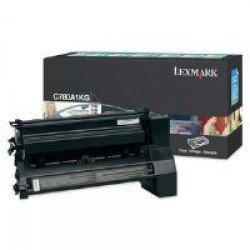 Lexmark C780A1KG Black Return Program Print Cartridge (6,000 pages*) 0C780A1KG