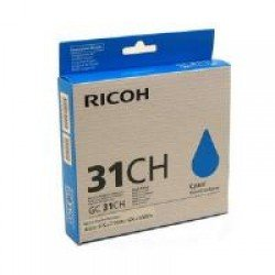 Ricoh 405702 Cyan Gel - High Yield GC 31CH (4,890 prints*)