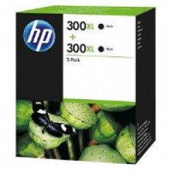 HP D8J43AE No.300XL High Yield Black Ink Cartridge Twin Pack