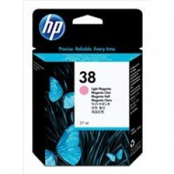 HP C9419A No.38 Light Magenta Pigment Ink Cartridge with Vivera Ink (27ml)