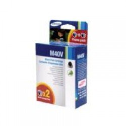Samsung INK-M40V Twin Pack Black Ink Cartridge INK-M40V/ELS