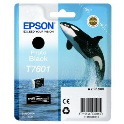 Epson T7601 Black Ink Cartridge (25.9ml) C13T76014010