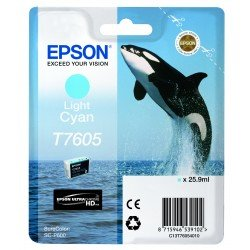 Epson T7605 Light Cyan Ink Cartridge (25.9ml) C13T76054010