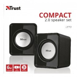Trust compact 6 Watt 2.0 speaker set (Watt RMS Pack) 19830