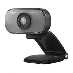 Trust Viveo 720P HD Black/Aluminium Webcam 20818