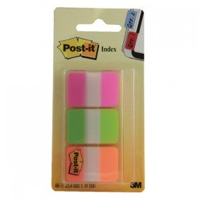 Post-it Strong Index Pink, Green and Orange 686-PGOr
