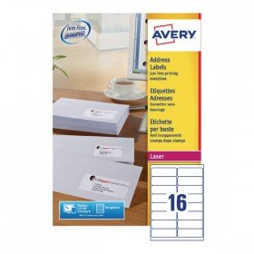 Avery White Laser Adress Labels 99x34mm (8000 Pack) L7162500