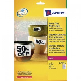Avery White Heavy Duty Laser Labels (960 Pack) L4778-20