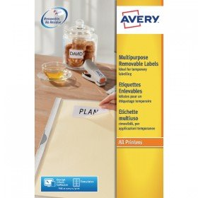 Avery Removable Labels 25 per Sheet L4736REV-25