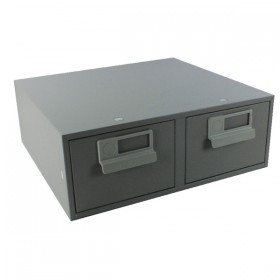 Bisley 6x4 Inches Double Grey Card Index Cabinet FCB24