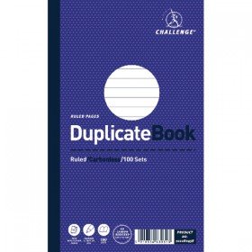 Challenge Duplicate Book Ruled Carbonless 100 Sets 210 x 130mm (5 Pack) 100080458