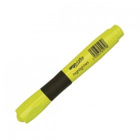 Ergo-Brite Ergonomic Highlighter Pen Yellow (10 Pack) JN69979