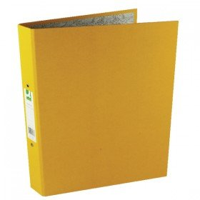 Q-Connect 2 Ring 25mm Paper Over Board Yellow A4 Binder (10 Pack) KF01473