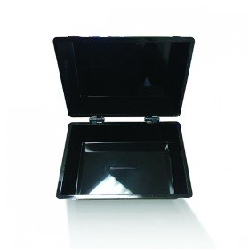 Q-Connect Black Card Index Box 6x4 Inches KF10010