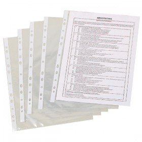 Q-Connect Punched Pocket A4 50 Micron Clear (100 Pack) KF24001