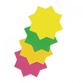 RDI Ticket Board Star 4 inch Fluorescent Assorted (30 Pack) TB4